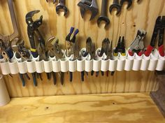 My pliers storage.