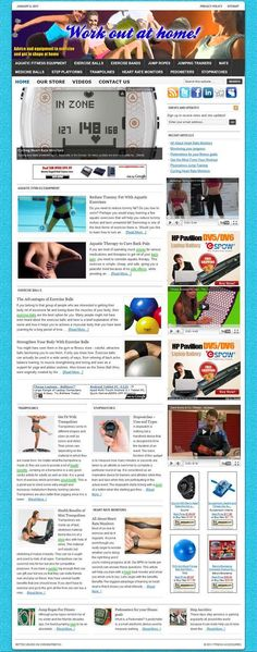 Fitness & Workout II ready-made website for sale! Comprehensive website design with very elegant and detailed graphics, plenty of content (60+ PAGES!), dozens of pictures, videos reviews, contact/privacy pages, and more! READY TO RUN with ANY affiliate programs such as AdSense, Amazon, ClickBank, Chitika, AdBrite, Kontera, Infolinks... all of them! Built-in and preconfigured auto-updating Amazon Store, start selling without keeping any inventory!