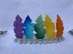 Excited to share this item from my #etsy shop: Felt feather headband, rainbow headband, dress up headband, rainbow colours Rainbow Headband, Feather Headband, Protea Flower, Rainbow Decorations, Rainbow Colours, Rainbow Aesthetic, Kids Up, Rainbow Wall, Pom Pom Trim