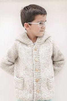 Baby Boy Knitting Patterns Free, Sweater Knitting Patterns, Knitting For Kids, Toddler Cardigan, Baby Cardigan, Knit Baby Sweaters, Baby Coat, Jacket Pattern, Baby Shirts