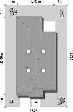 Usytuowanie projektu Dom na parkowej 7 A na działce Filing Cabinet, Dom, Storage, Furniture, Home Decor, Purse Storage, Decoration Home, Room Decor, Larger