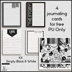 FREE Simply Black & White + freebie - Lea and Ugo scrap '