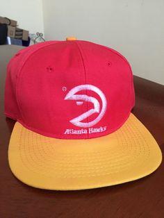 8b0640b2257 Vintage 1990s ATLANTA Pac-Man HAWKS NBA Basketball STARTER Snapback Hat Dad  Atl