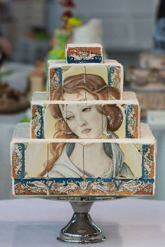 Botticelli painted cakes - CakesDecor
