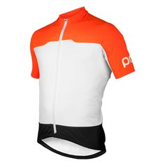 "POC's Essential Short Sleeve Jersey embraces two of the key components of the POC mantra - aerodynamics and visibility. A four way stretch fabric used on the body has been woven to maximise aerodynamic performance whist a compact 3D structure fabric on the shoulders and back help to reduce drag.POC's trademark orange enhances visibility on the bike and finishing details such as glued and seamless hems ensure a comfortable ride. Rear pockets including a zipped pocket for valuables and a ""my…"