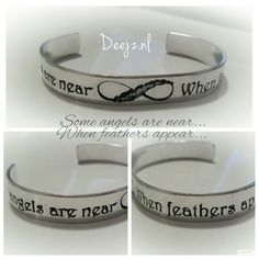 Infinity feather bracelet Some angels are near when feathers appear ❤  www.Deejz.nl