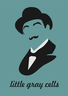 Hercule Poirot - I know this isn't Sherlock Holmes, but he is my other favorite fictional detective.  He's hanging here until I have a more appropriate board to put him on.
