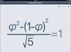 MyScript Calculator: The Only iPad Calculator App that Matters? Apple Watch, Trigonometry, Basic Math, Science Resources, Homeschool Math, Best Apps, The Middle, Iphone, Calculator