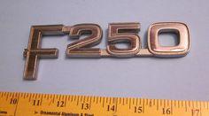 Ford F-250 Factory Chrome Body Emblem