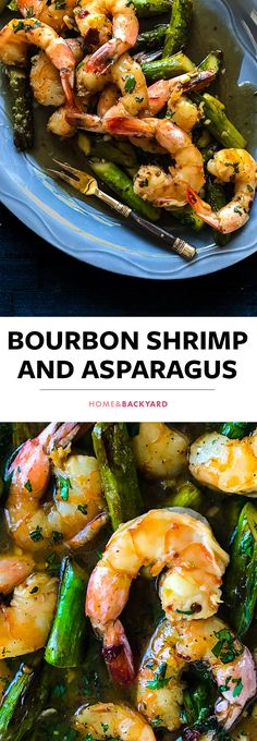 Bourbon, Brown sugar, Chipotle Peppers, Asparagus and Shrimp. This shrimp recipe makes quick and easy, delicious dinner or lunch. Click on image to see full recipe and more dinner ideas.
