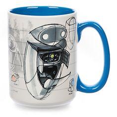 disney art of pixar eve from wall-e 12oz ceramic coffee mug new  #ldisneyart #disney