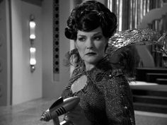 Star Trek Voyager's Captain Kathyrn Janeway as Arachnia Queen of the Spider People in episode Bride of Chaotica