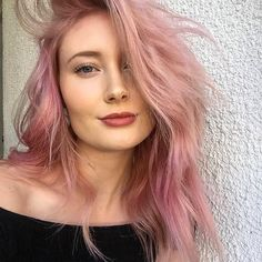 A pink this pretty deserves to be seen. Perfect pastel pink hair color by by @masterofmane, @hair_by_balentine at Pure Aveda salon.