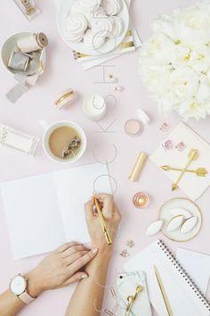 Feminine Desk Inspiration | Styled stock from the SC Stockshop by Shay Cochrane | scstockshop.com