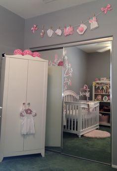 Baby Reagan's shabby chic nursery! Clothesline