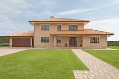 City villas in the Mediterranean-Tuscan style – Bauunternehmen Nagelbau GmbH - Style Architectural Tuscan Design, Tuscan Style, Mediterranean Style, Spanish Style Homes, Spanish Colonial, Style Toscan, Double Storey House Plans, Pintura Exterior, Mansions Homes