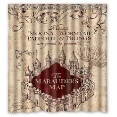 This Harry Potter Marauders Map shower curtain features high quality printed image. This unique waterproof shower curtain will surely liven up your bath time Harry Potter Bathroom, Harry Potter Decor, Harry Potter Marauders Map, The Marauders, Sorting Hat, Dream Bedroom, Pink Grey, Searching, Fandoms