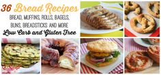 36 Low Carb and Gluten Free Bread Recipes - Bread, Muffins, Rolls, Bagels, Buns, Breadsticks and More