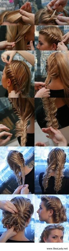 This would even be pretty just with two fishtail braids