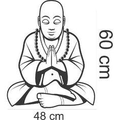 Adesivos Parede Buda Zen Decoração Quarto Sala Relaxar Lar - R$ 63,10