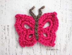 Repeat Crafter Me: B is for Butterfly: Crochet Butterfly Applique