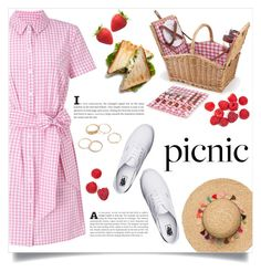 """picnic in the park"" by teto000 ❤ liked on Polyvore featuring Miss Selfridge, Picnic Time, Vans and picnic"