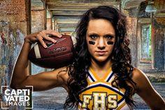 Senior photography - Not just a cheerleader.. a FOOTBALL cheerleader... ingenious... ^__^