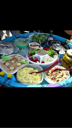 Have amazing food during a pool party