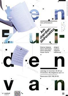 Studio Dumbar Amsterdam Sinfonietta, poster exhibition in Shanghai, 28-29th of August, 2010