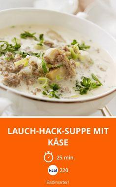 Lauch-Hack-Suppe mit Käse