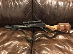Some traditionalists are horrified at the modern modification of lever guns, but, frankly, I like a lot of them. Airsoft Guns, Weapons Guns, Guns And Ammo, Big Guns, Cool Guns, Bushcraft, Survival Rifle, Scout Rifle, Lever Action Rifles