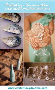 30 Beach Themed Wedding Projects & DIY Inspiration | Confetti Daydreams ♥  ♥  ♥ LIKE US ON FB: www.facebook.com/confettidaydreams  ♥  ♥  ♥
