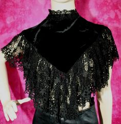 Karen Millen Designer Black Velvet Lace Cape Top Size 8 New With Tag Listing in the Karen Millen,Designer,Clothes, Shoes, Accessories Category on eBid United Kingdom