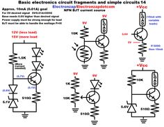 Basic electronics circuit fragments and simple circuits 20