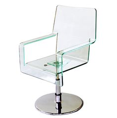 appeal swivel office chair with acrylic seating height adjustable centrally supported acrylic office chair