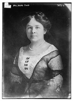 Clara Jane Bryant Ford, the wife of Industrialist Henry Ford I