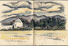 Citation: Sketch of Rockwell Kent farm, 1979 . Letterio Calapai papers, Archives of American Art, Smithsonian Institution.