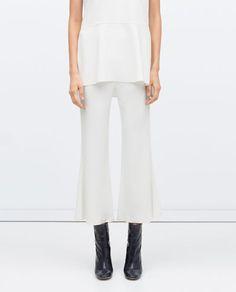 Imagem 2 de CROPPED FLARE TROUSERS da Zara