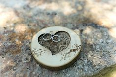 Wedding rings wooden holder rustic style / Деревянная подставка для колец в стиле рустик