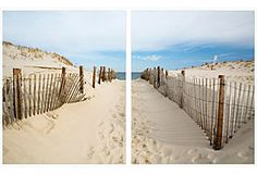 One Kings Lane - William Stafford - Beach Path, diptych