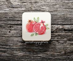 Items similar to Red Apple Illustration On COASTER ; x cm ; Cork Backed Coaster ; Kitchen Accessory on Etsy Watermelon Illustration, Apple Illustration, Watercolor Paintings, Watercolors, Red Apple, Cork, Coasters, Unique Jewelry, Etsy Shop