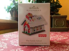Hallmark 2010 FISHER PRICE Play Family SCHOOL New Christmas Keepsake Ornament in Collectibles, Decorative Collectibles, Decorative Collectible Brands | eBay