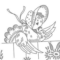 Vintage Embroidery Pattern PDF - Gossip Girls