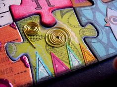 Each person decorates their own piece. Puzzle is put back together. We are different but fit together.