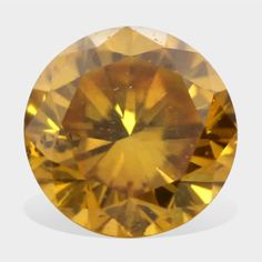 0.09 ctw, 2.75 mm Size, Golden Yellow, SI1 Clarity, Round Brilliant Real Diamond #diamonds #loosediamonds #yellowdiamonds #fancydiamonds @dmzdiamonds Canary Yellow Diamonds, Golden Yellow, Clarity