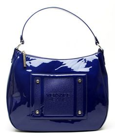 Look at this #zulilyfind! Bright Navy Patent Leather Hobo by Versace Jeans Collection #zulilyfinds