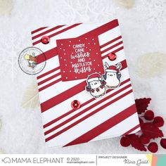 mama elephant   design blog: INTRODUCING: Mixed Holiday Greetings + Big Merry and Bright Mama Elephant Stamps, Elephant Design, Mistletoe, Merry And Bright, Clear Stamps, Candy Cane, Your Cards, Christmas Cards, Christmas Ideas