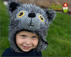 Crochet pattern wolf animal hat pattern for baby toddler child teen adult boy or girl photo prop or costume two strand waterfall braid for school girls Crochet Wolf, Crochet Baby, Hat Crochet, Girl With Hat, Boy Or Girl, Baby Boy, Bandanas, Baby Cosplay, Wolf Hat