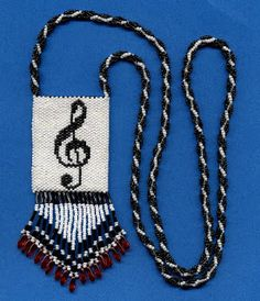 beaded amulet bag with g-clef - Tatting, Beading and Needlework: March 2011