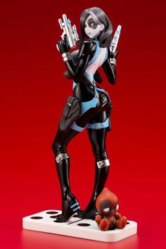 Marvel Comics – Domino Bishoujo Statue by Kotobukiya! Domino Marvel, Marvel Comics, Ms Marvel, Captain Marvel, Domino Comics, Marvel Girls, Comics Girls, Comic Manga, Comic Art